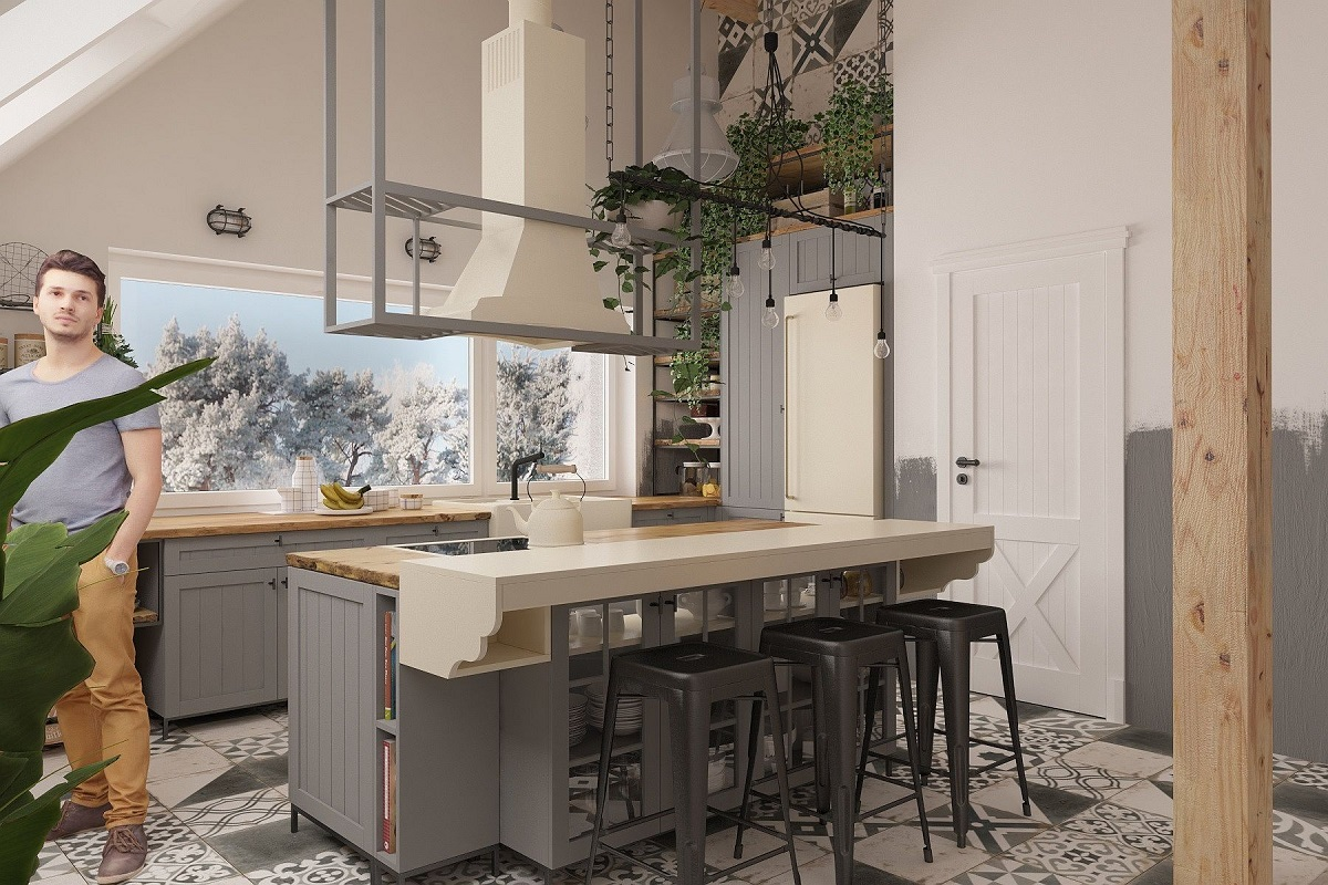 Kuchnia w stylu loft (1)