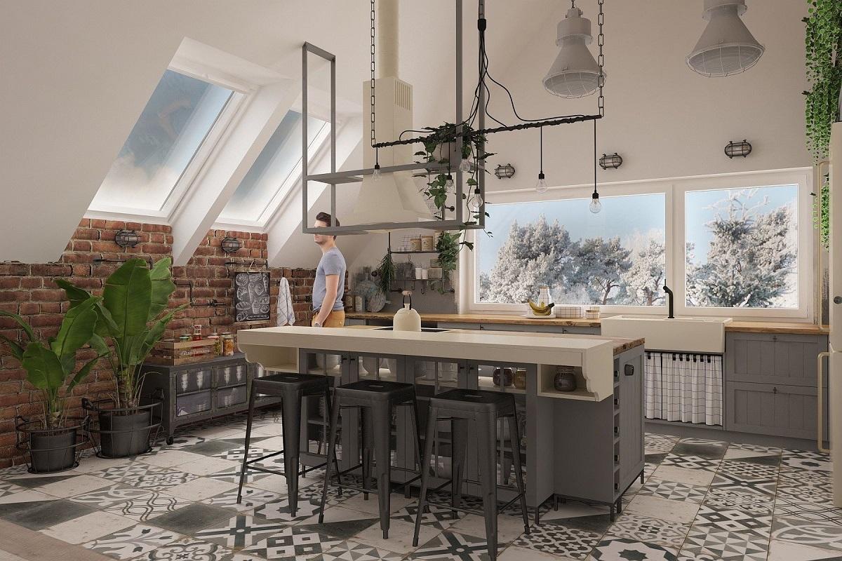Kuchnia w stylu loft (3)