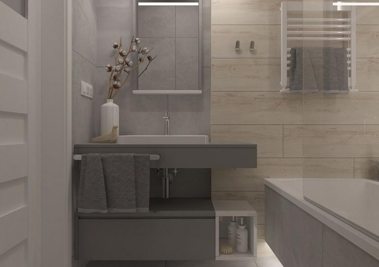 Aranżacja małej łazienki i wc