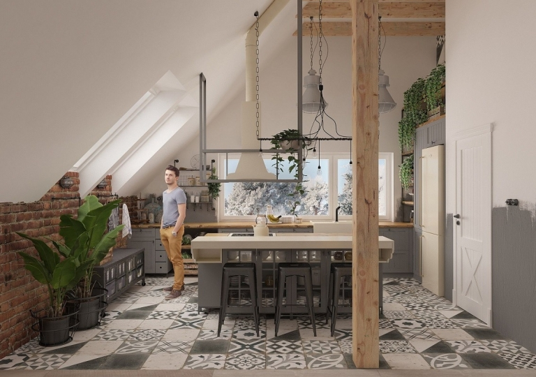 Kuchnia w stylu loft (2)