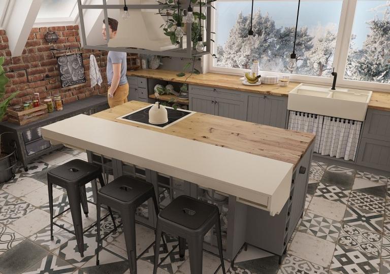 Kuchnia w stylu loft (4)