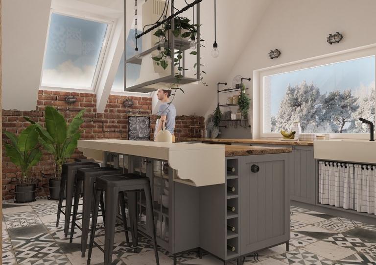 Kuchnia w stylu loft (7)