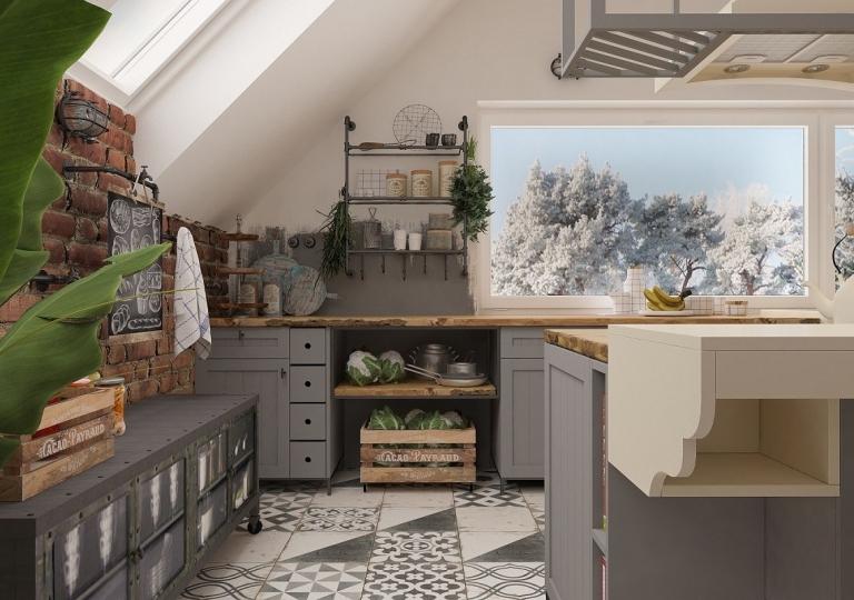 Kuchnia w stylu loft (8)
