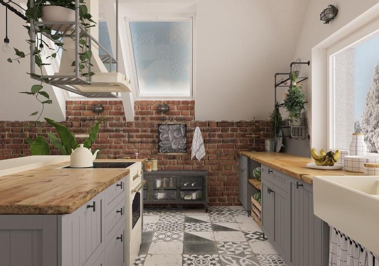 Kuchnia w stylu loft (9)