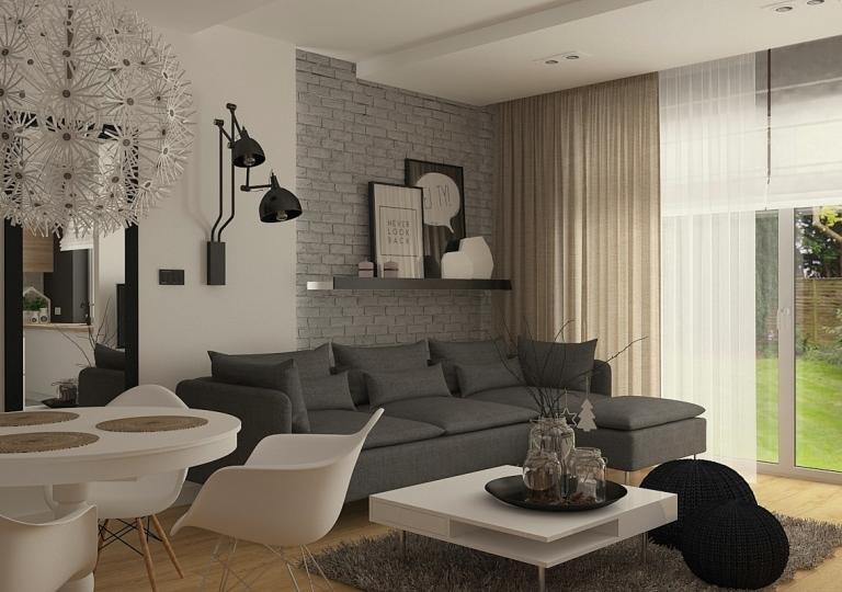 Projekt wnętrza zabudowy szeregowej (2)